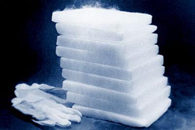 Dry ice slabs