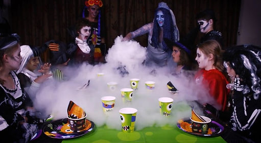 Dry Ice At Halloween Party
