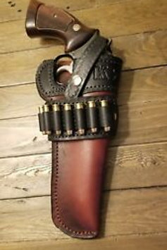 Custom Cowboy style holster mag 357..S&W 686, 586, model 19