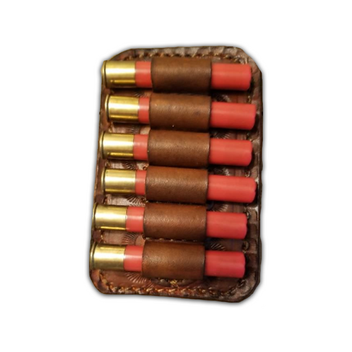 45/410 ammo loops with belt clip..Herman Oak leather..Made in Alabama