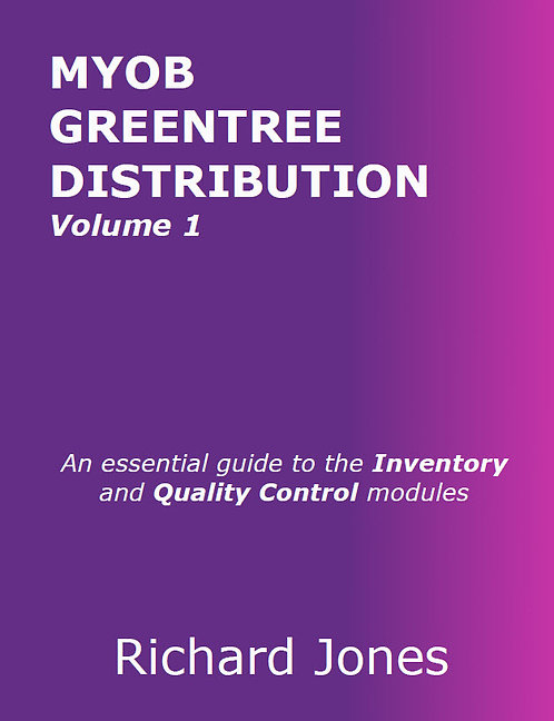 MYOB Greentree Distribution - Volume 1
