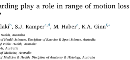Hot off the press! Does muscle spasm play a role in frozen shoulder??