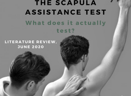 The utility and mechanisms of scapula assistance test.