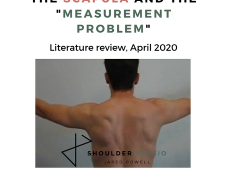 """The scapula and """"the measurement problem"""""""