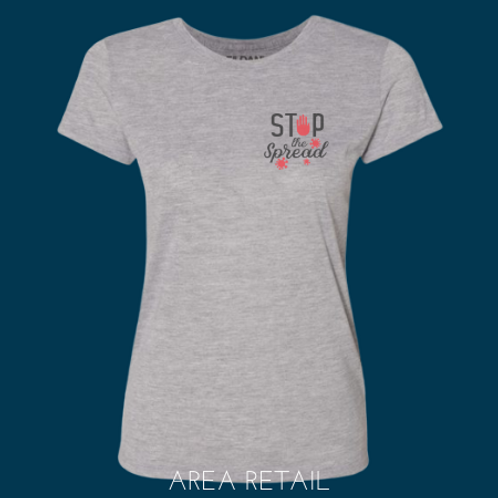 Women's Basic Fitted Lightweight T: Stop the Spread