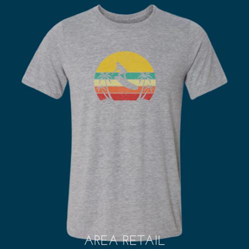 Men's Basic Lightweight T-Shirt: Distressed Horizon Surfer
