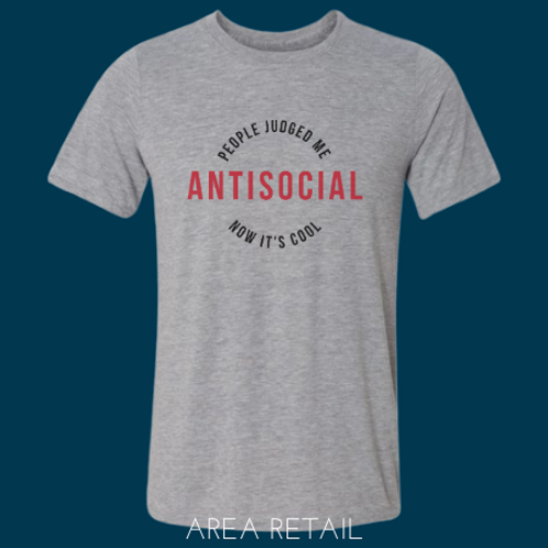 Men's Basic Lightweight T-Shirt: Antisocial