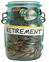 retirement money pot jar glass UNPAID.pn