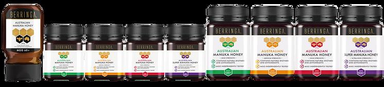 Gama de productos Miel de Manuka Berringa