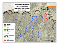 Trail re-route and new trails map