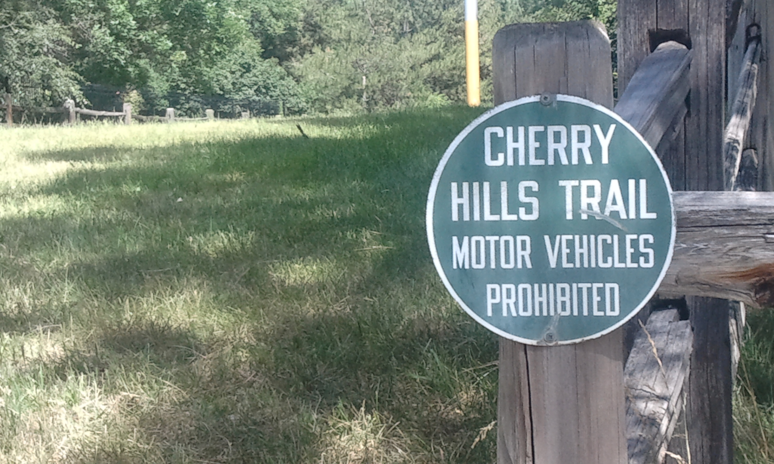 Cherry Hills Trail sign