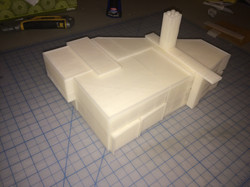 3D print of power plant building