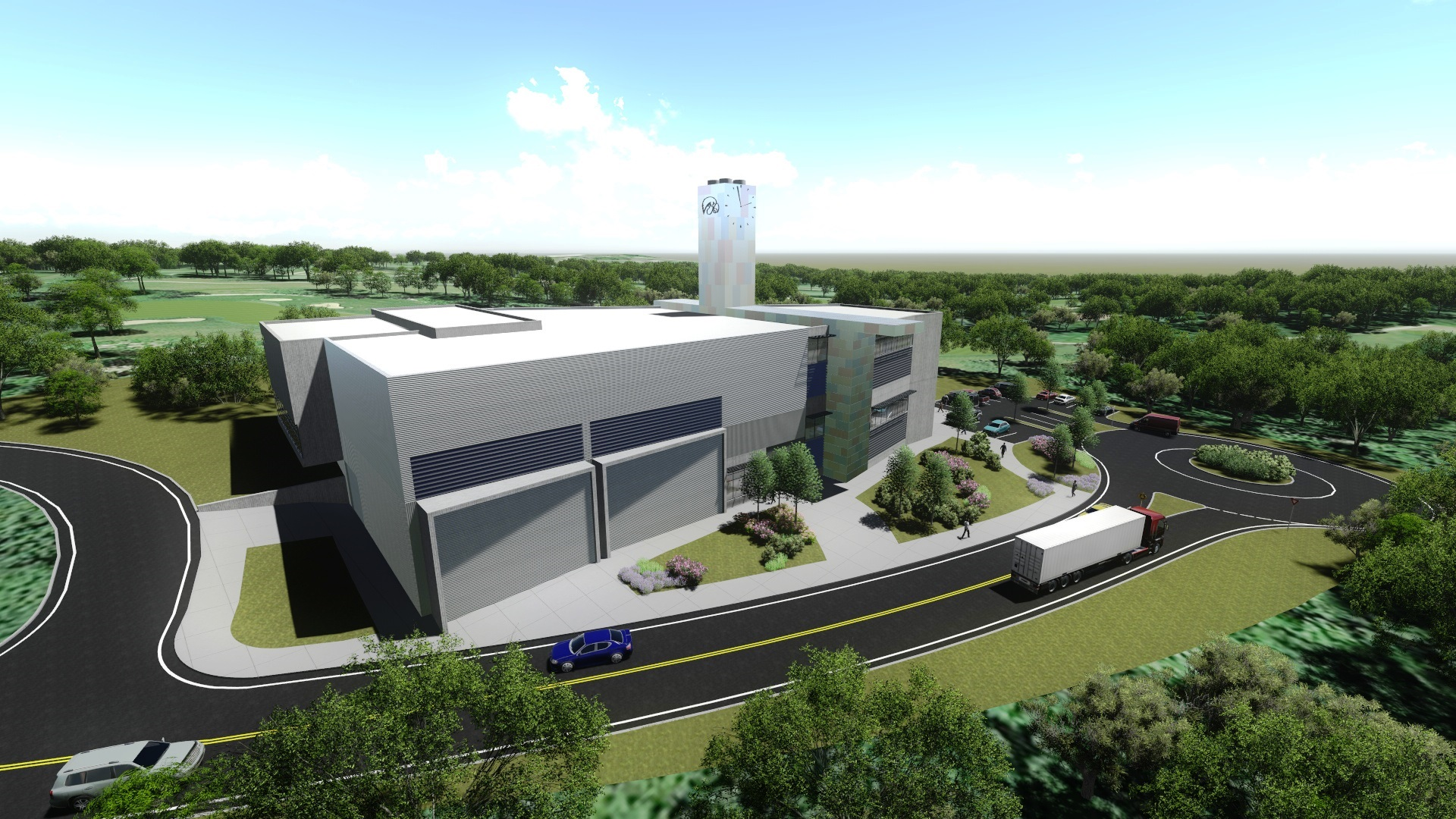 Power Plant 3D rendering