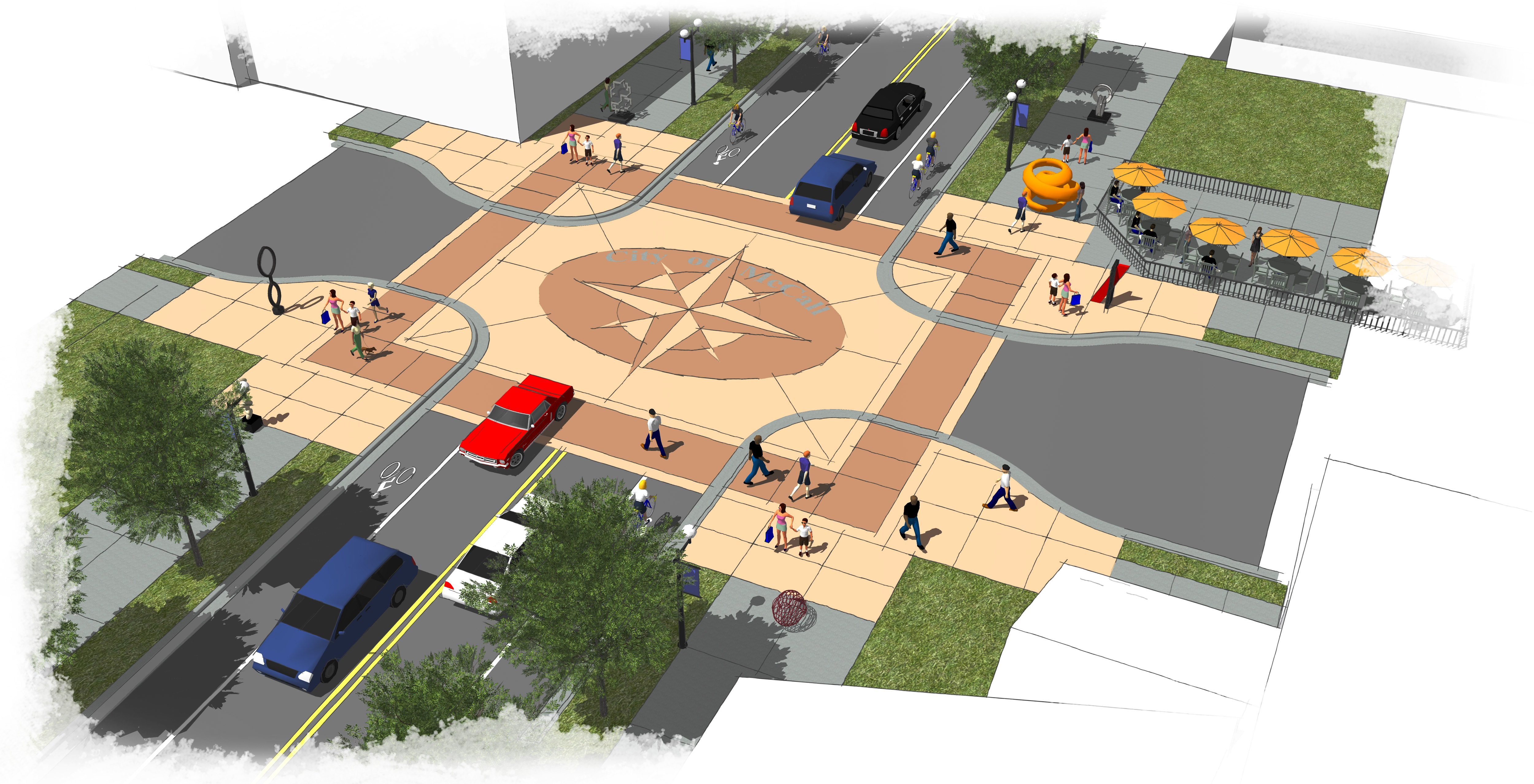 3d model of improved intersection