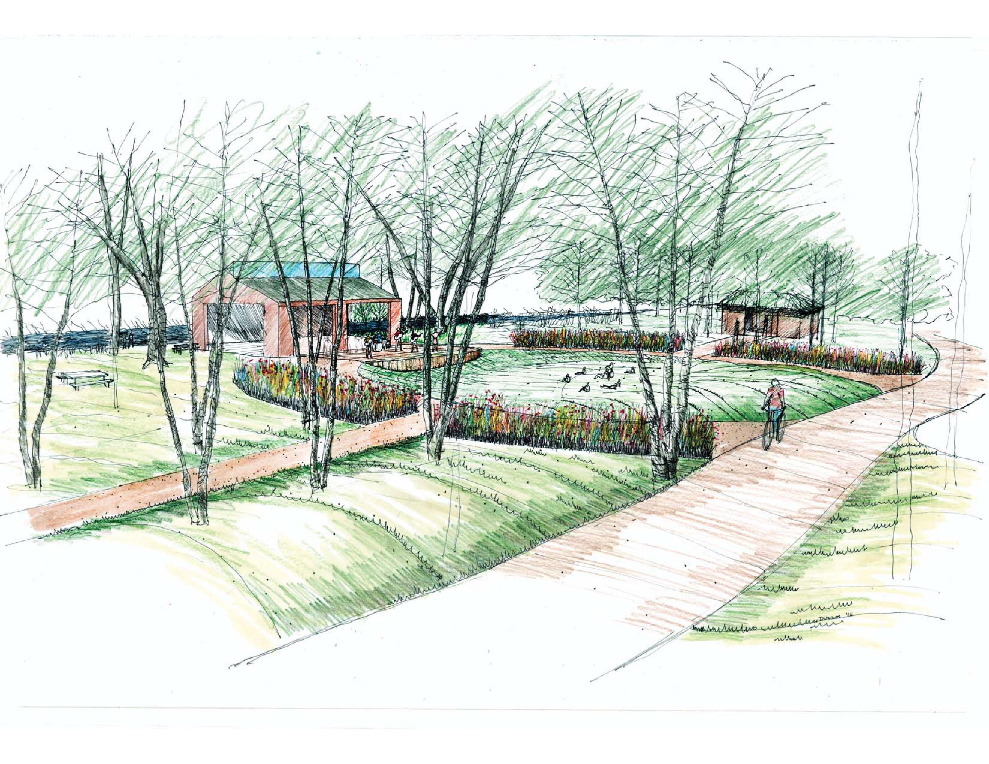 Sketch of CRC Park improvements