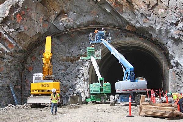 Widening the tunnels