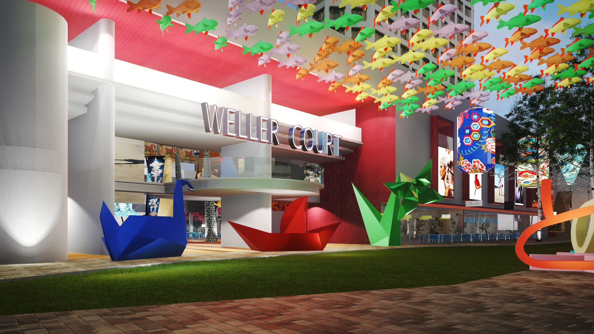 Weller Court 3d rendering