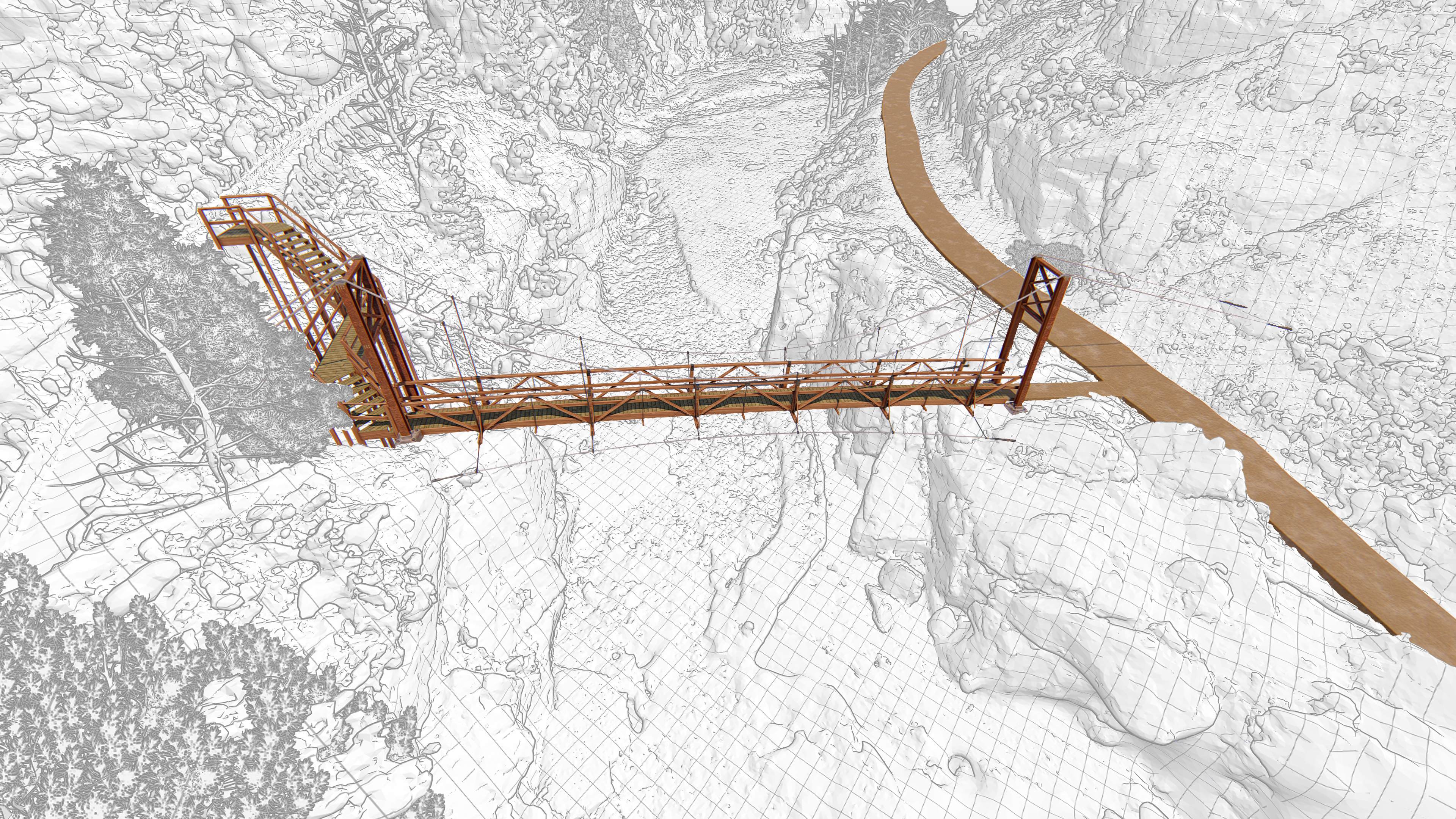 3D bridge model and drone data