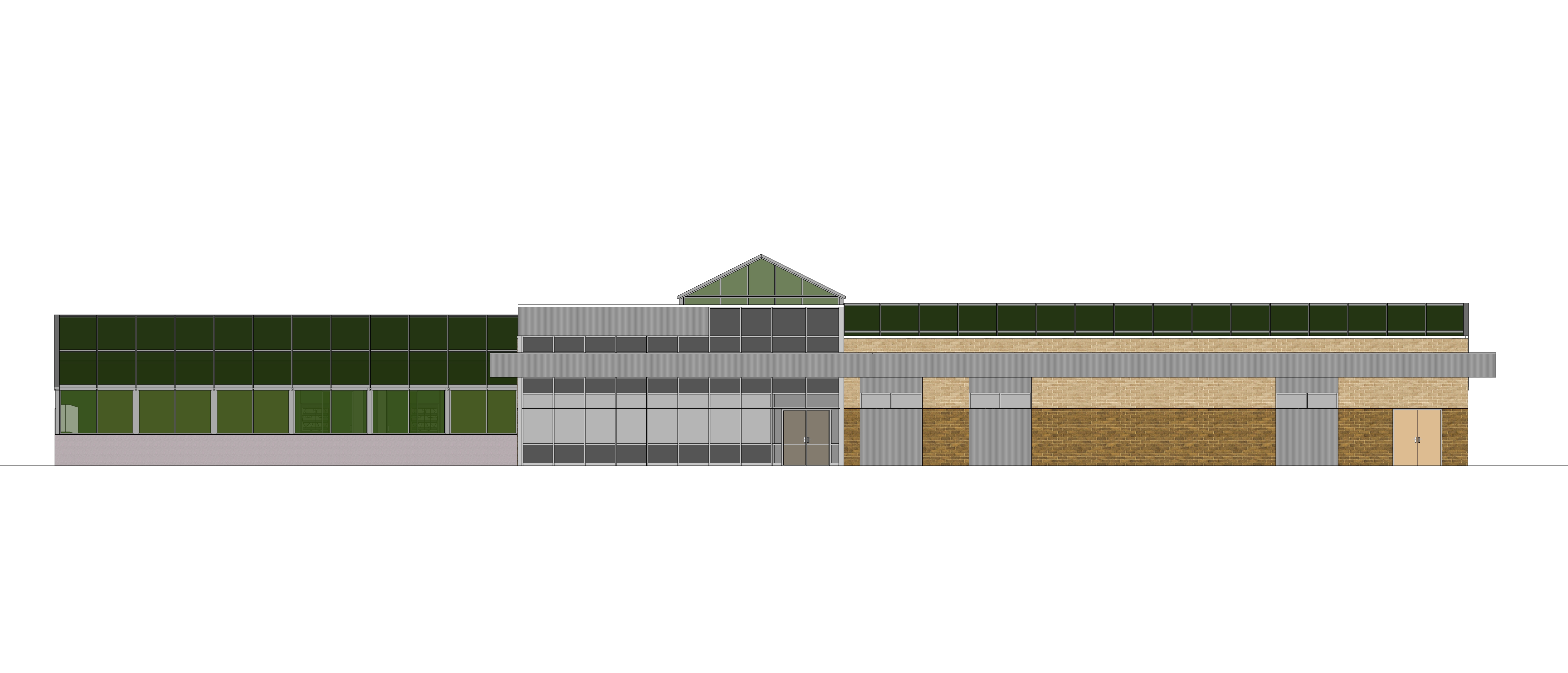 PERC SketchUp model elevation view
