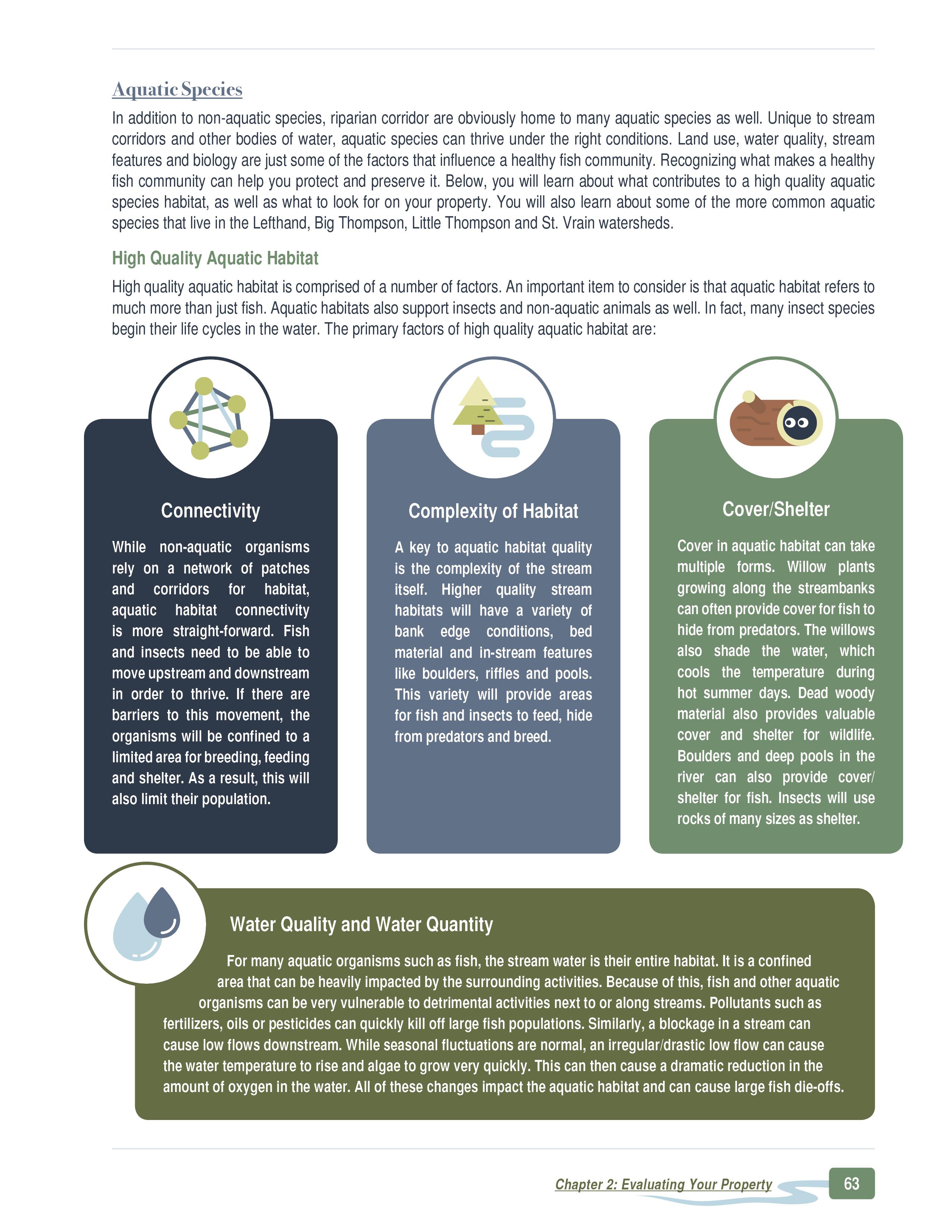 Aquatic species considerations
