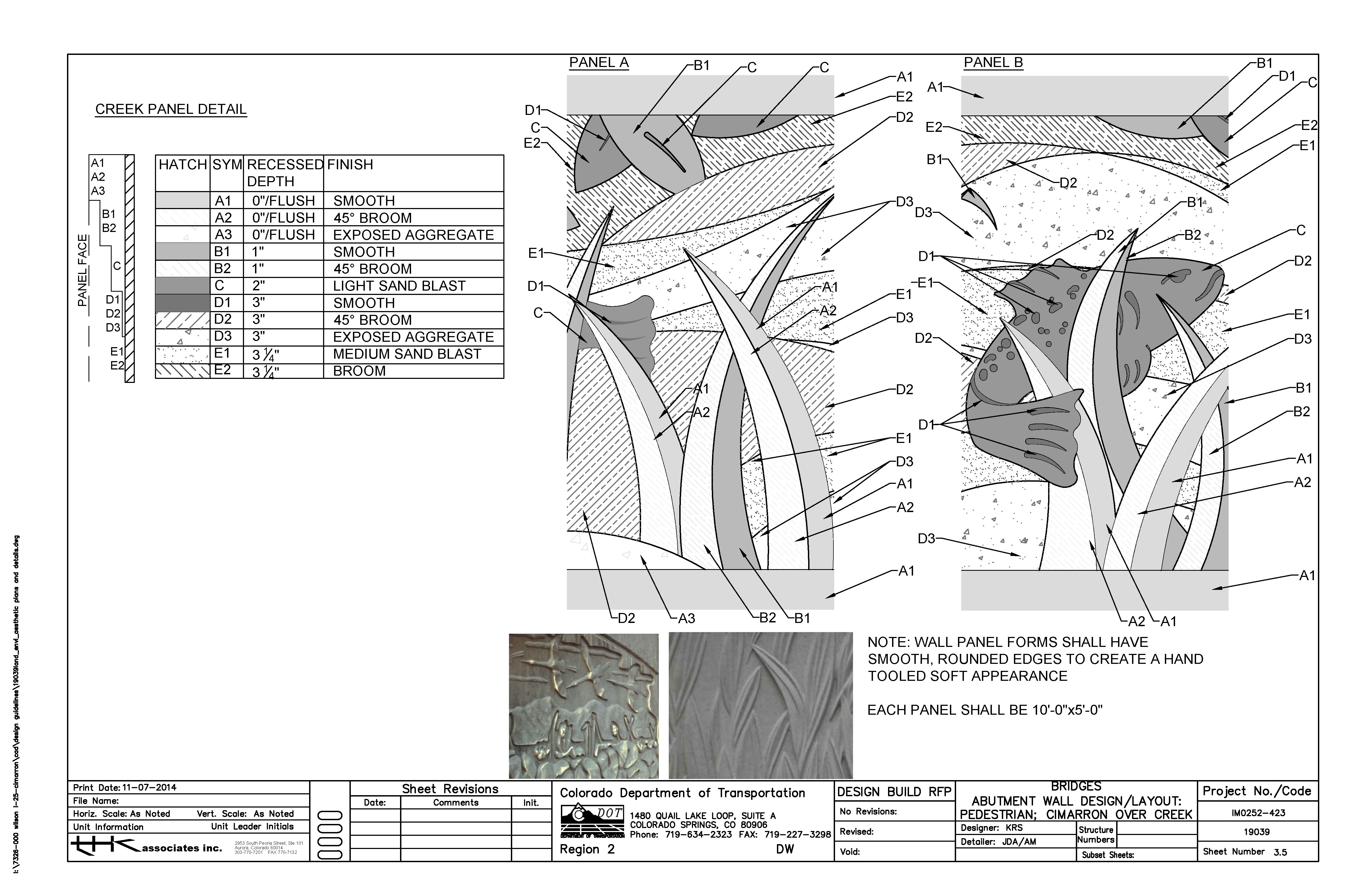 Custom formliner detail drawing