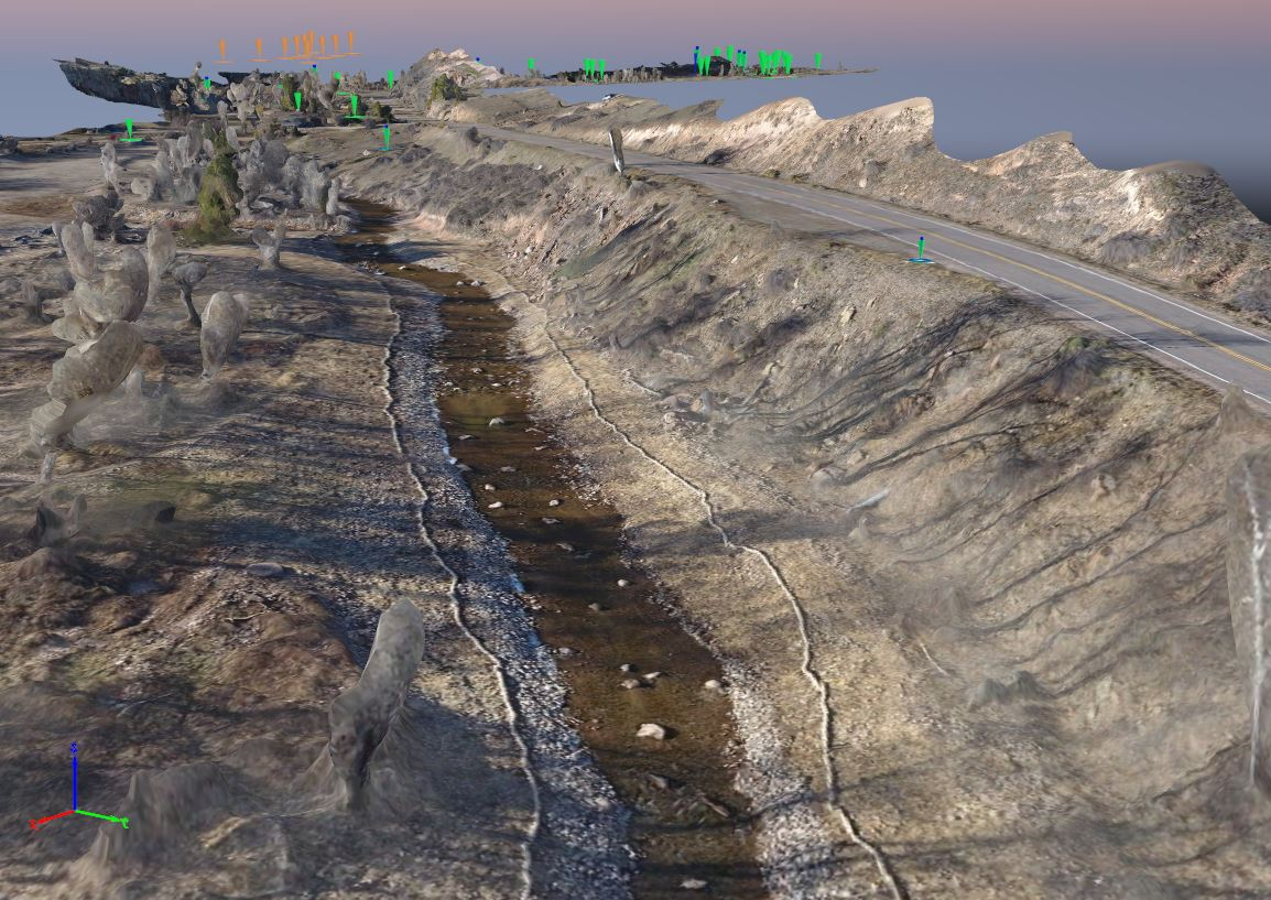 3D mesh created from drone data