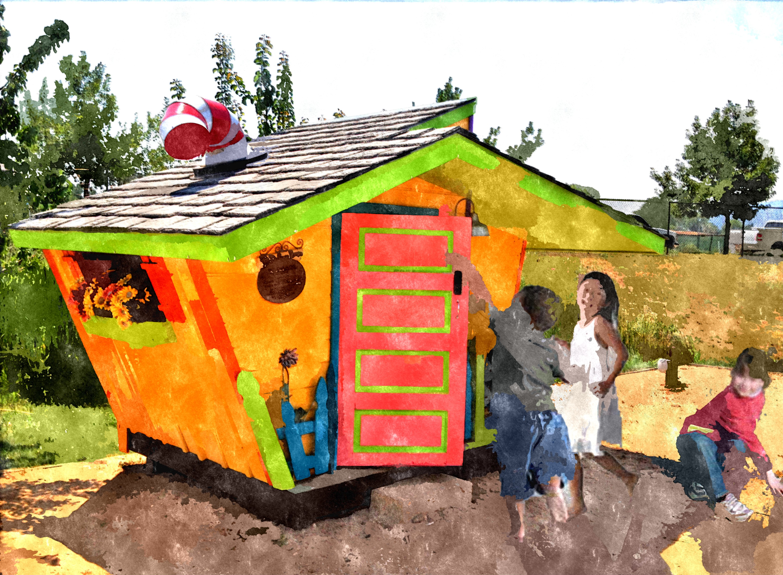 Outdoor playhouse example