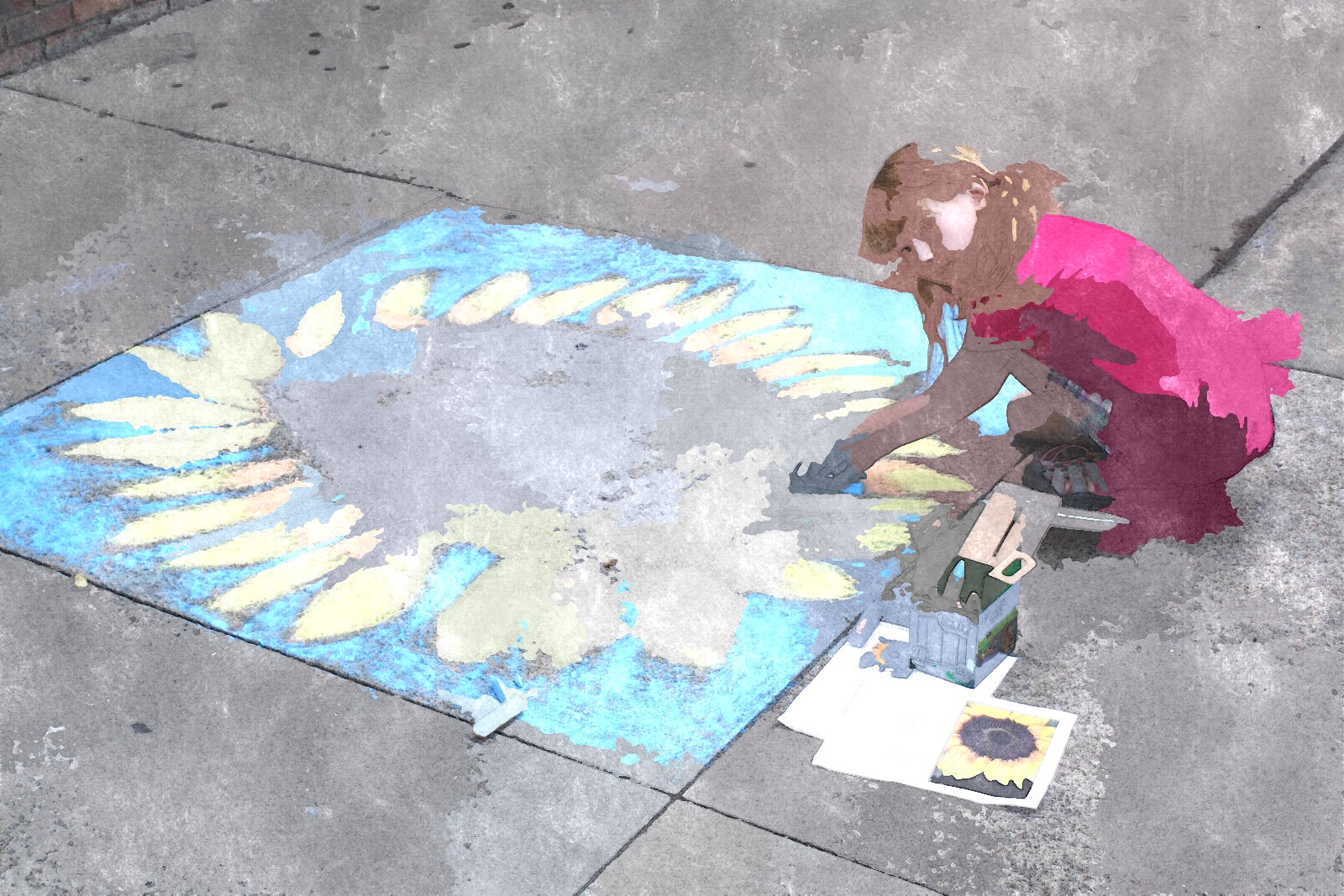 Chalk art example