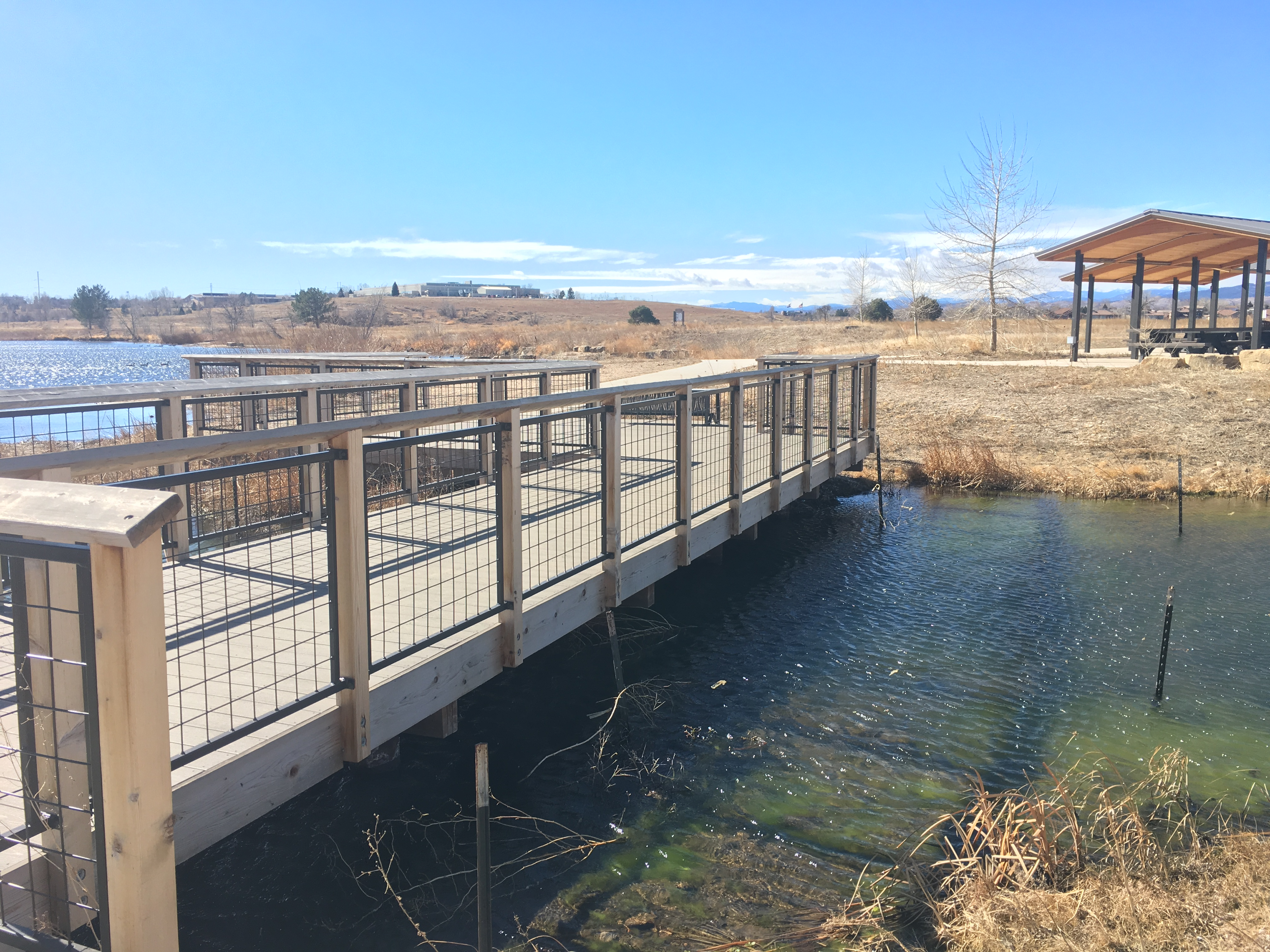 Wetlands boardwalk and shelters