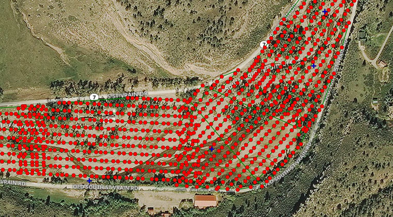 Photo points from drone flights
