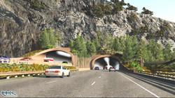 West portals 3D rendering