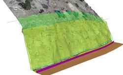 3D Model of rockfall mesh system
