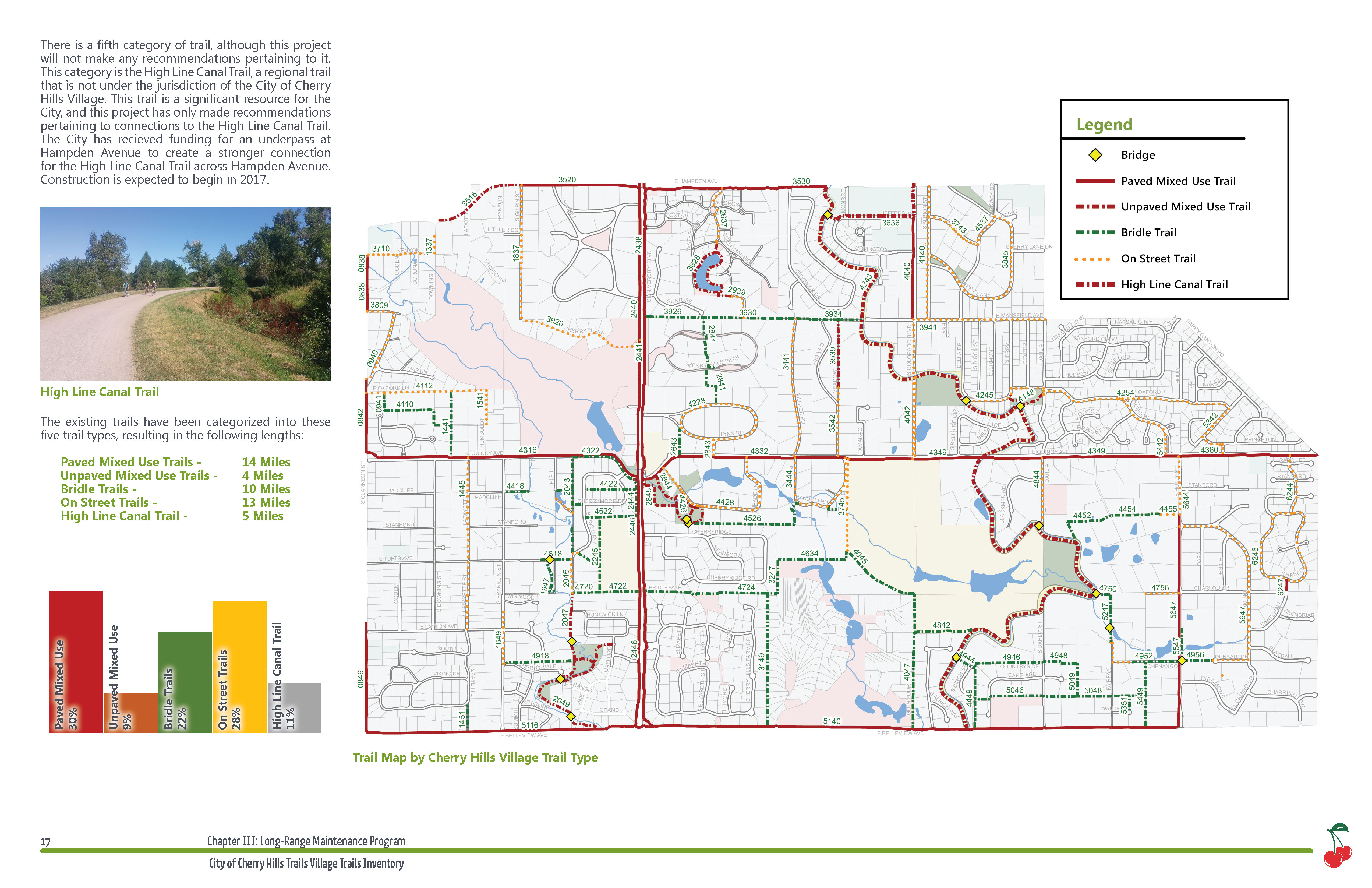 Updated Trails Master Plan map