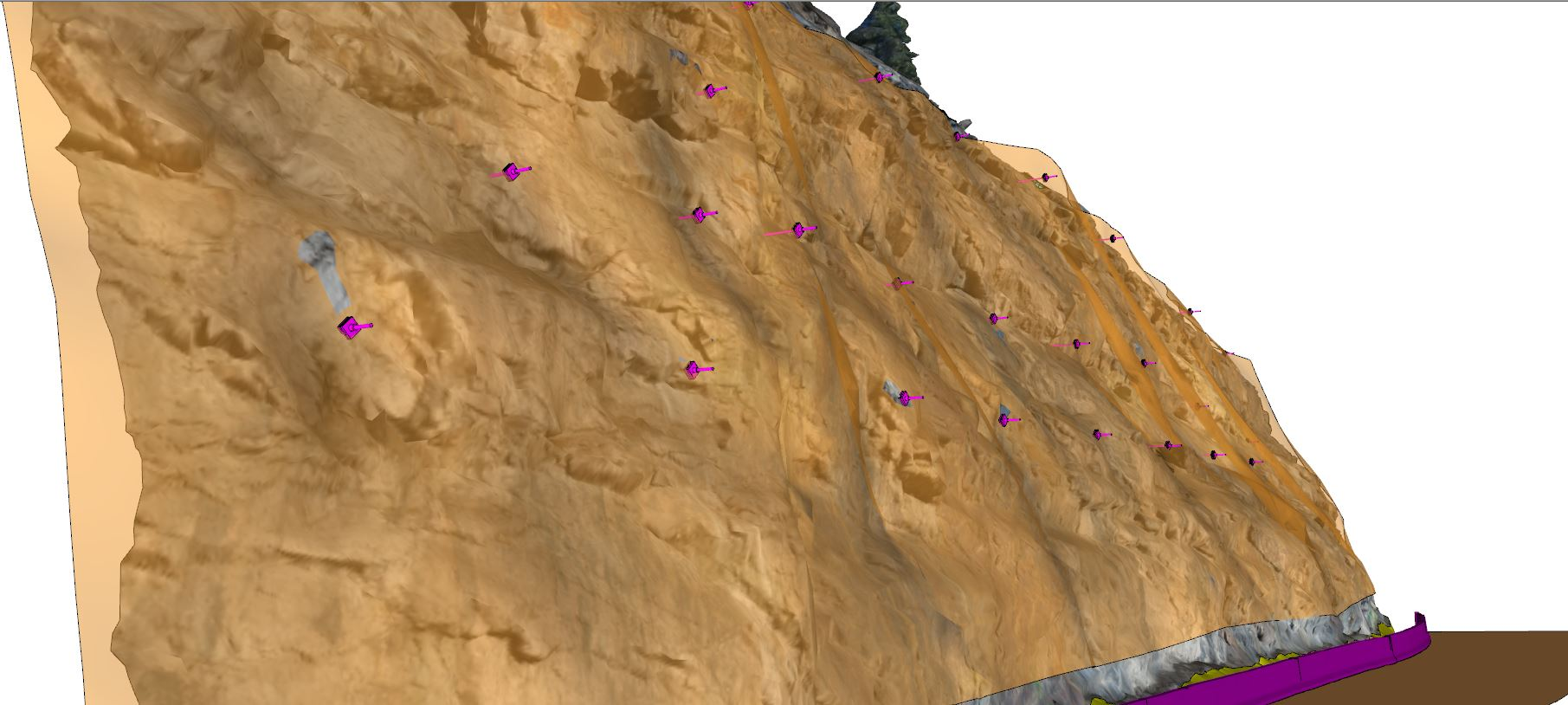 3D Model of rockfall mesh system