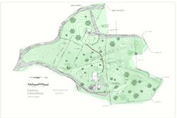 Plan view - survey over 3D model