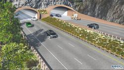 East portals 3D rendering