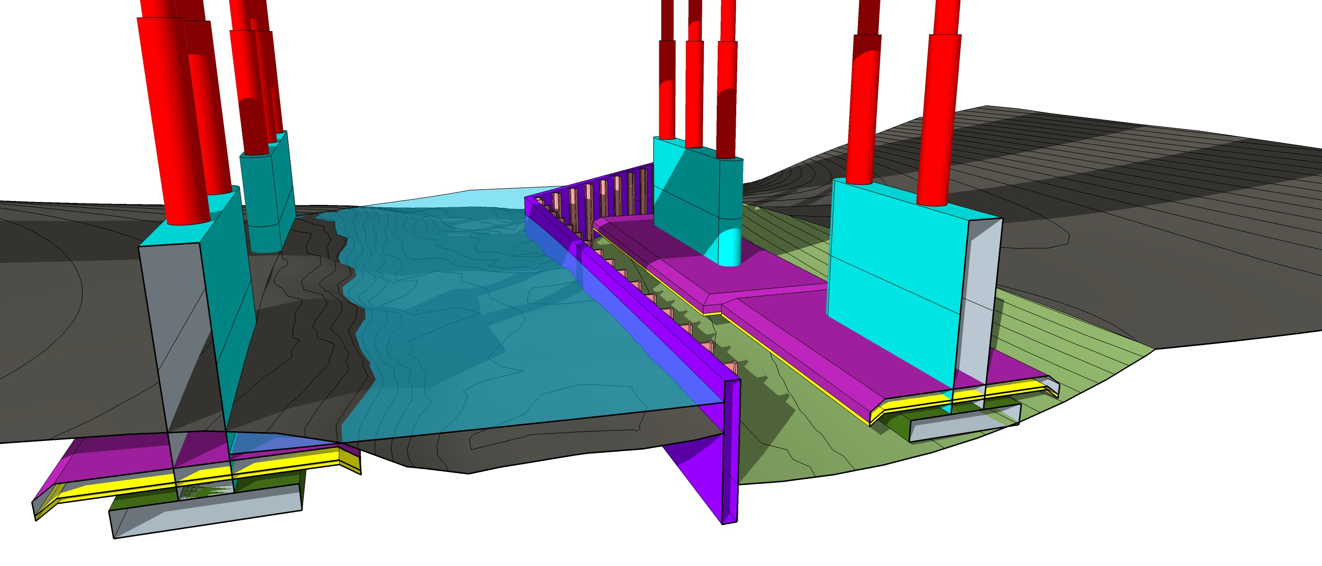 I-80 bridge phasing model (Truckee)