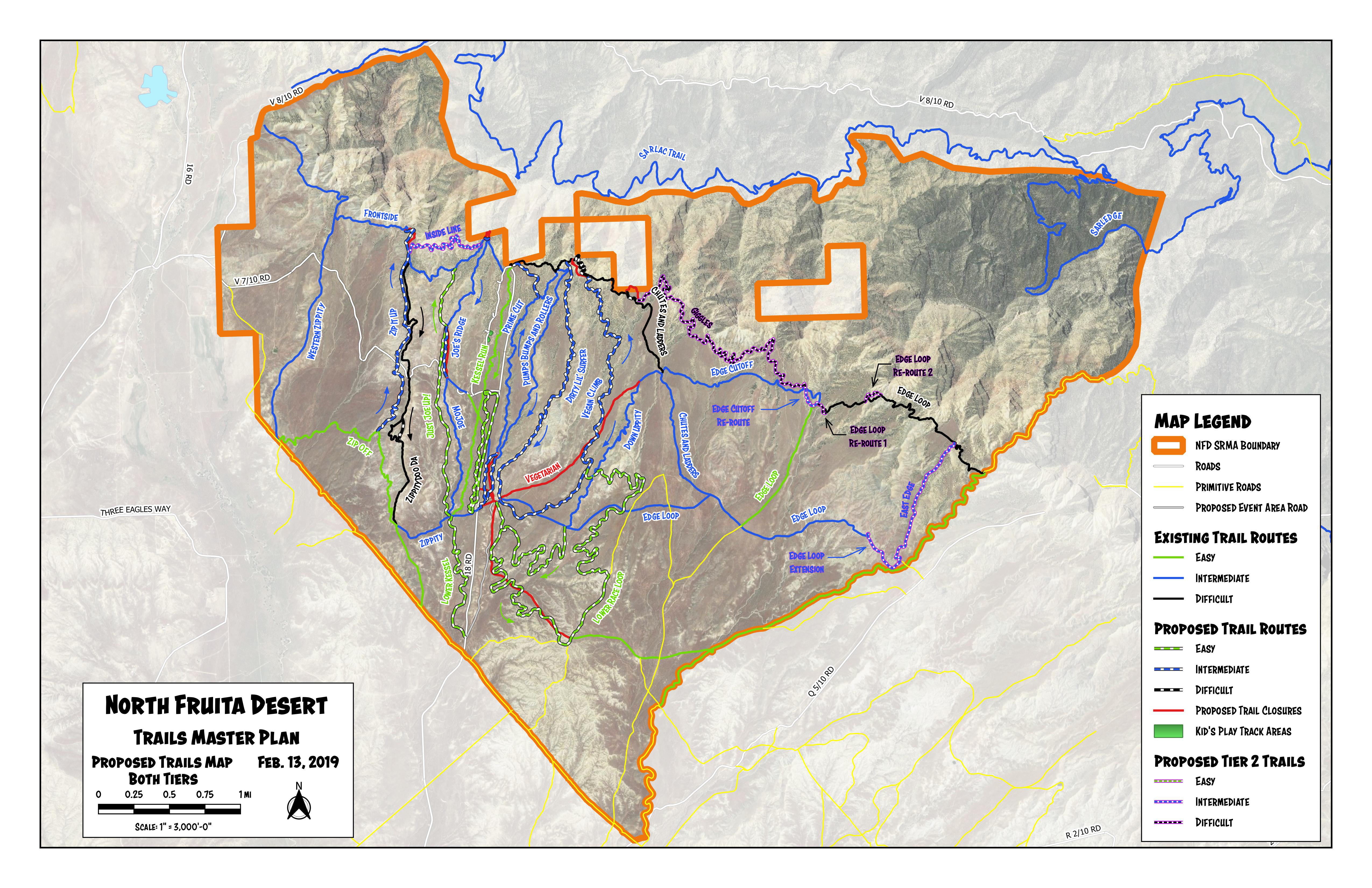 North Fruita Desert All Routes Map
