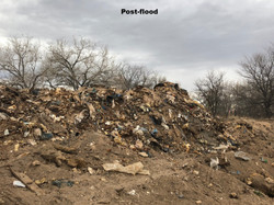 Landfill uncovered by 2013 flood