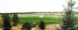 Hughes Stadium construction