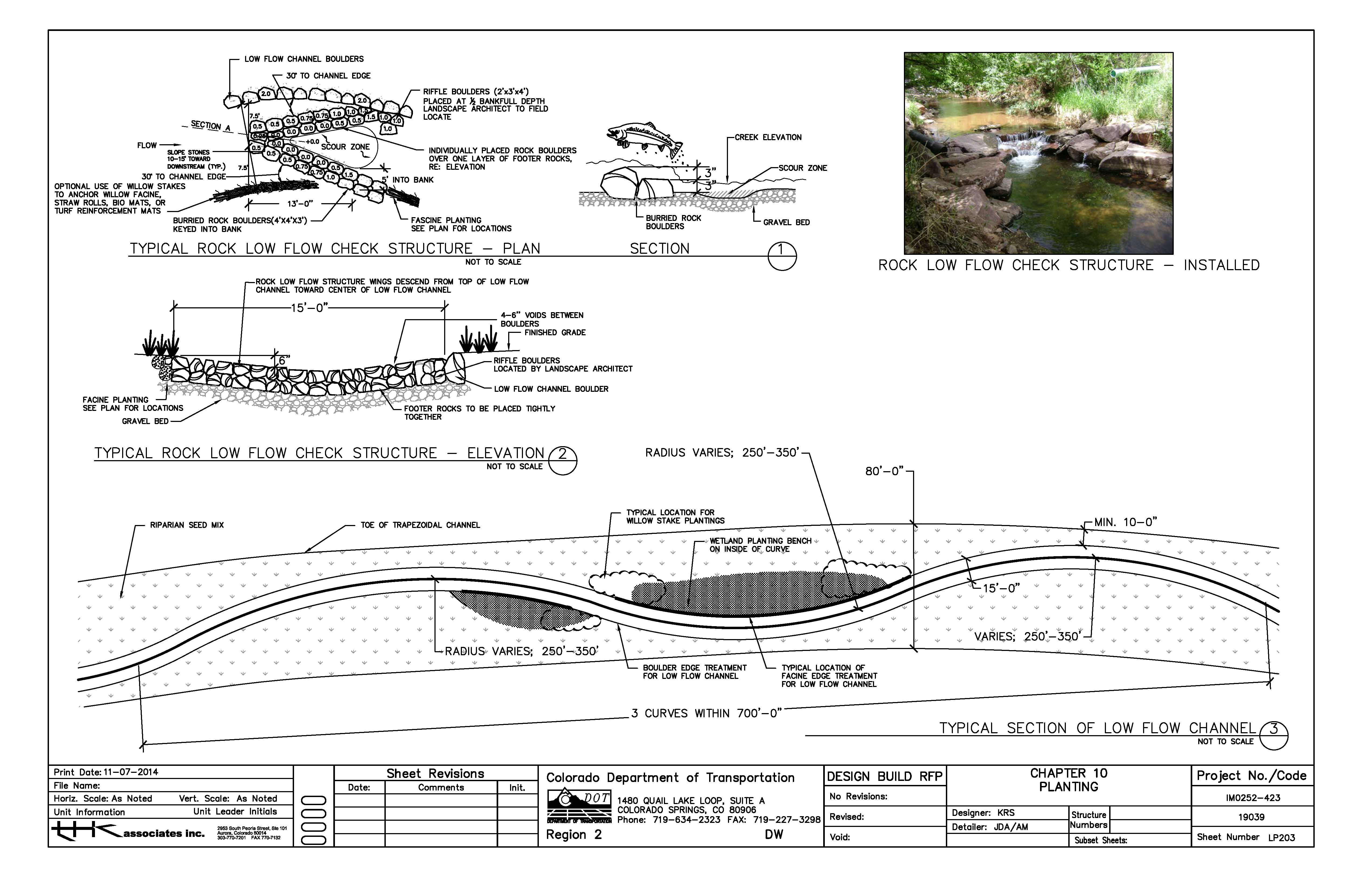 Creek restoration guidelines drawing