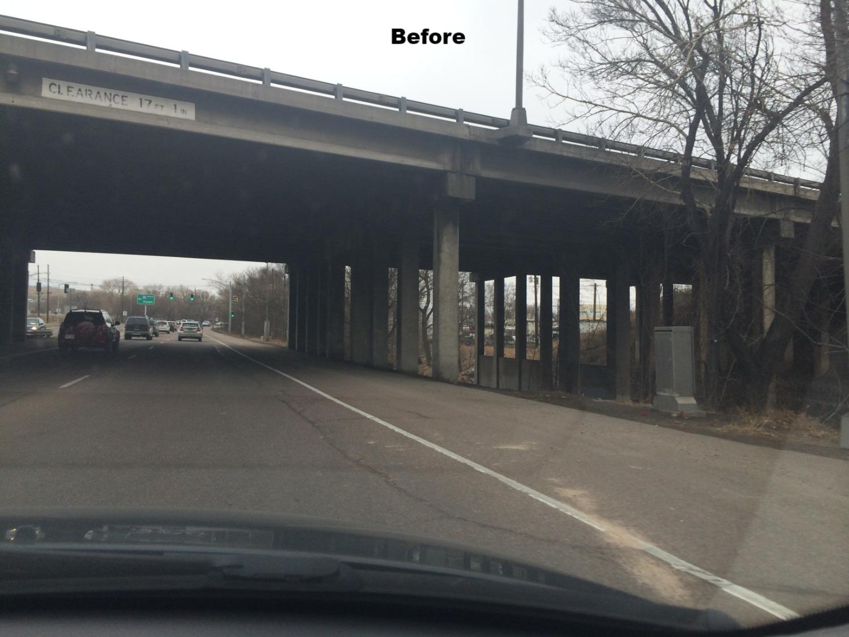 I-25 over Cimarron BEFORE
