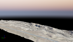 3D Point cloud of the proposed events area