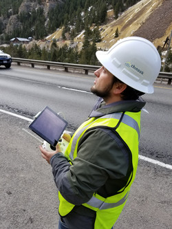 Collecting drone data along I-70