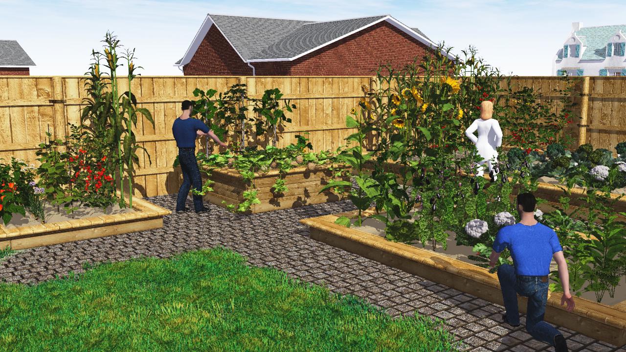 3D rendering; home gardens