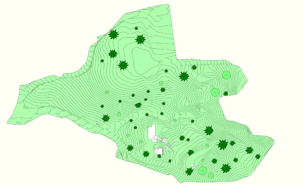 Plan view - 3D study model
