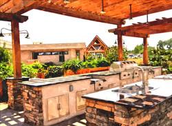 Outdoor kitchen example