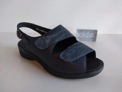 SOLIDUS • BLAUW SANDAAL 2 VELCRO - (77045)