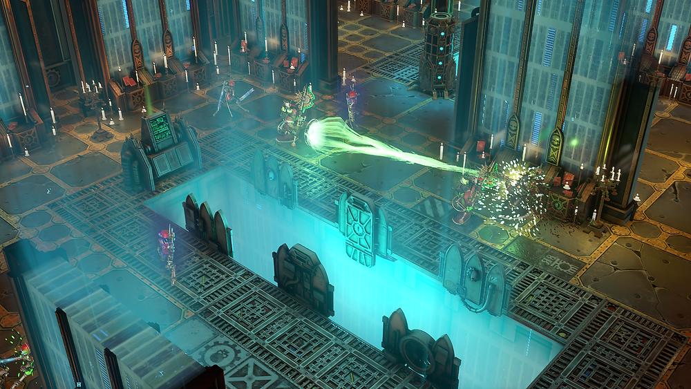 Tech-Priest firing at an enemy