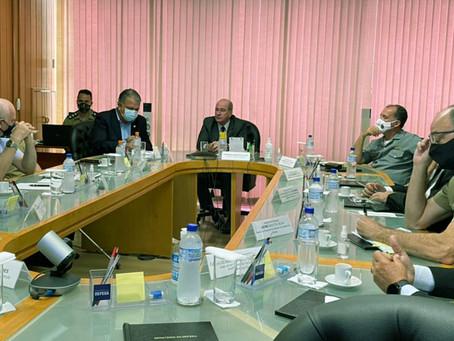 Petecão se reúne com ministro da Defesa e comandantes para debater orçamento do setor deste ano